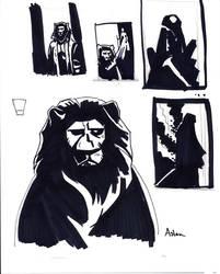 Mignola Narnia Aslan Roughs by kayjkay