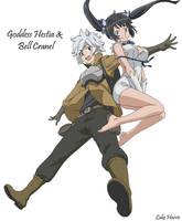 Goddess Hestia and Bell Cranel by LordReggieB