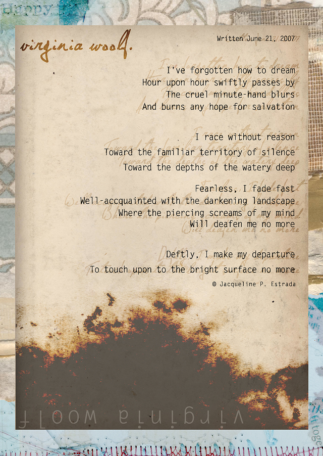 visual poetry - virginia woolf by ribcage-menagerie