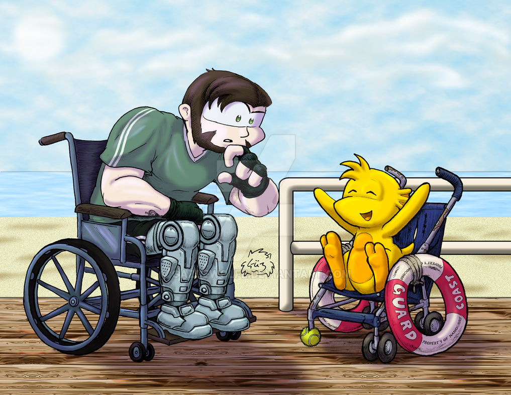 Wheelchair Bros Dan and Urb by GazDeWolfe