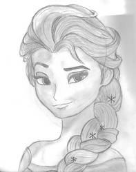 Queen Elsa by Hugozz