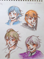 Fire Emblem: Awakening character sketches by AngelsMelodie