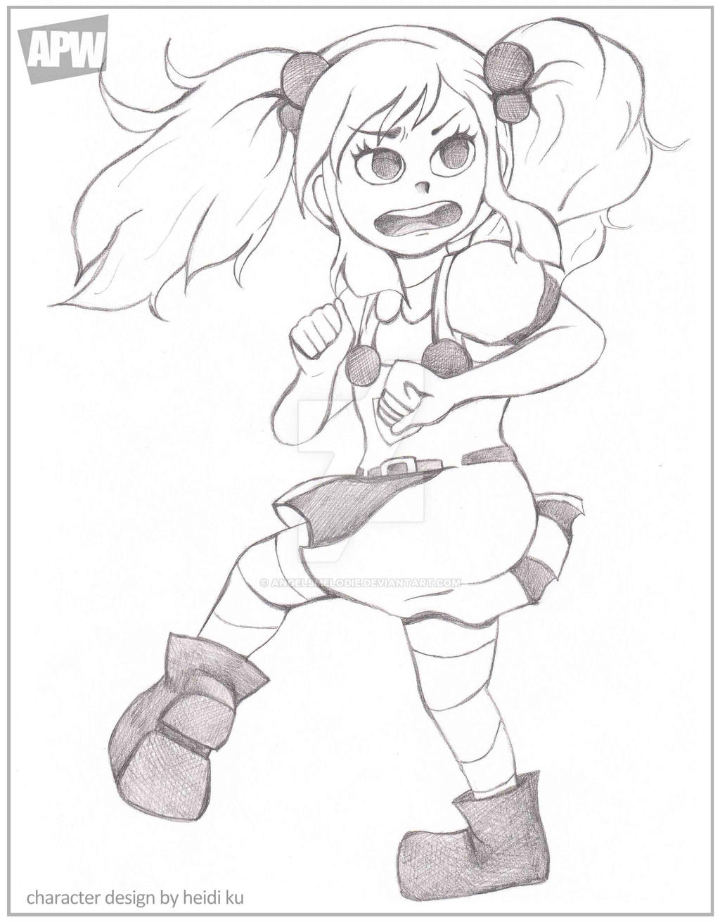 Apw Character Design Contest : Apw character design action pose by angelsmelodie on