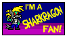 I'm a Sharkragon Fan Stamp by TheSharkGuy