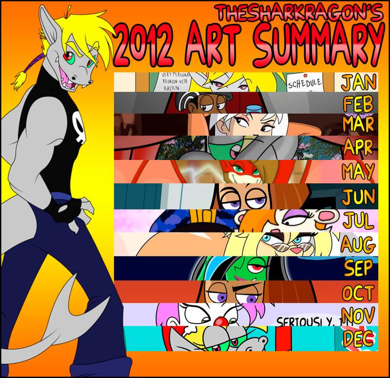 TheSharkragon's 2012 Art Summary by TheSharkMaster