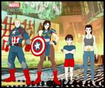 Marvel vs Capcom. Caps family. by CrossoverGeek