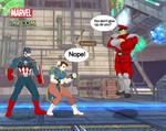 MvC. Cap and Chun-Li vs M.Bison by CrossoverGeek