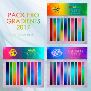 PACK 3 EXO GRADIENTS 2017 by rared deer