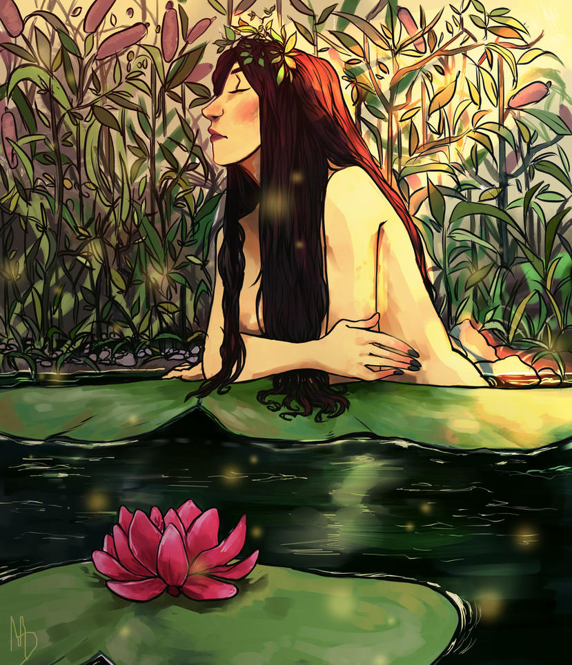 Lady of the pond by Inain1