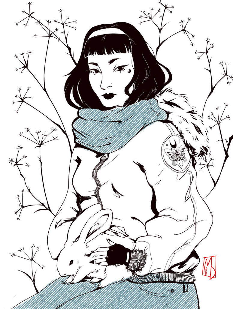 Inktober 1 - Seasonal Witch (Winter) by Inain1