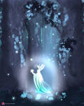 Aesthetic Forest Scene-magical Girl
