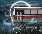 Fantasy Streetcar Running Deers