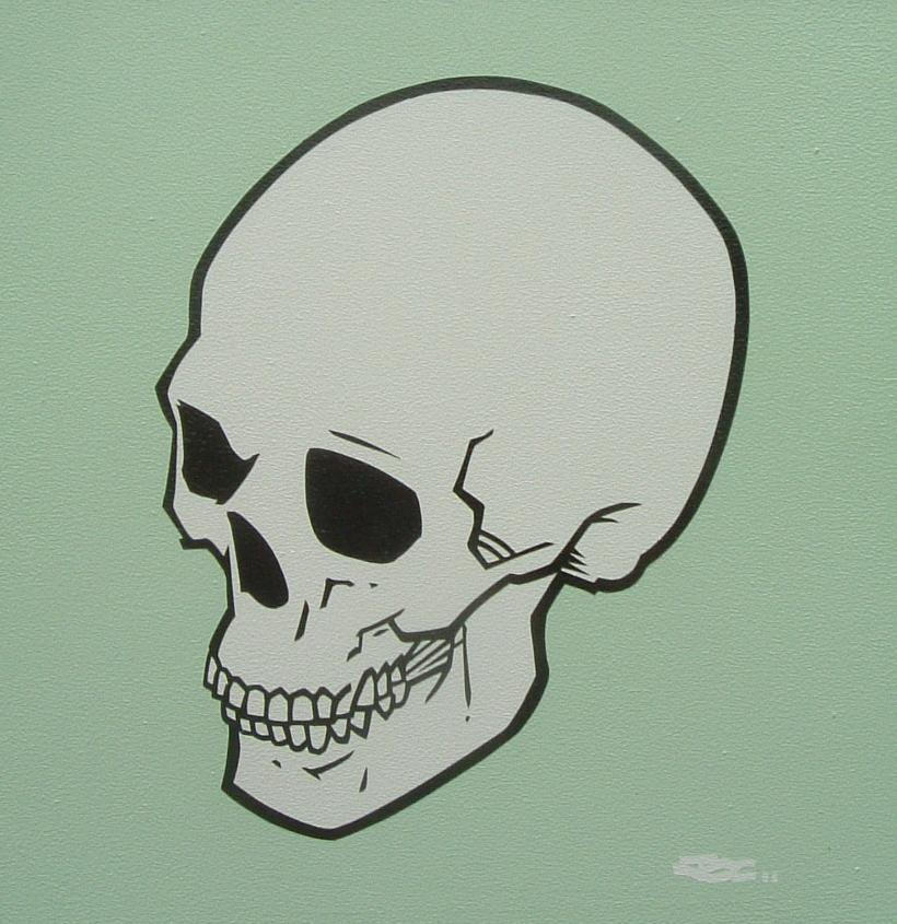 Green Skull by mondojohn