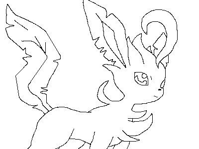 pokemon line art 1 leafeon by lineart4you