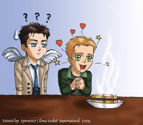 Supernatural-Cas+Dean+Pie by syren007