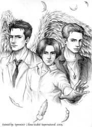 Supernatural-Castiel-Sam-Dean by syren007
