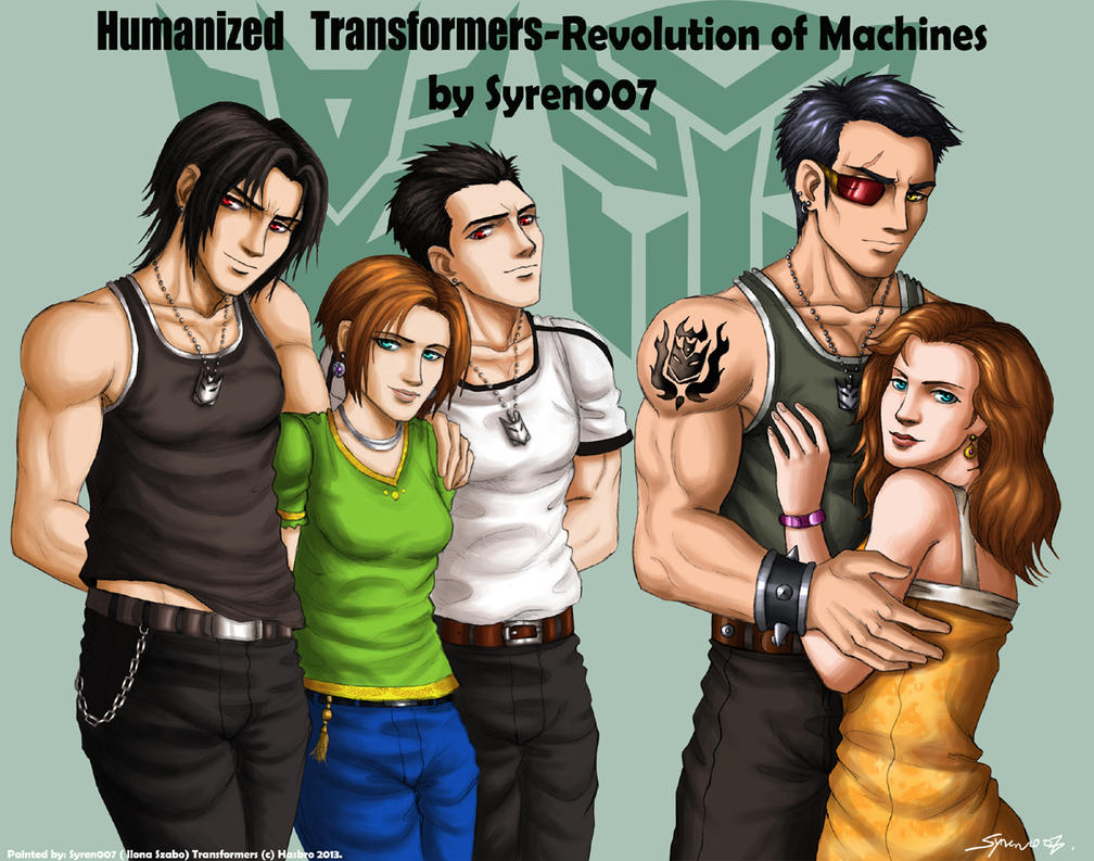 Humanized Transformers-characters by syren007 on DeviantArt