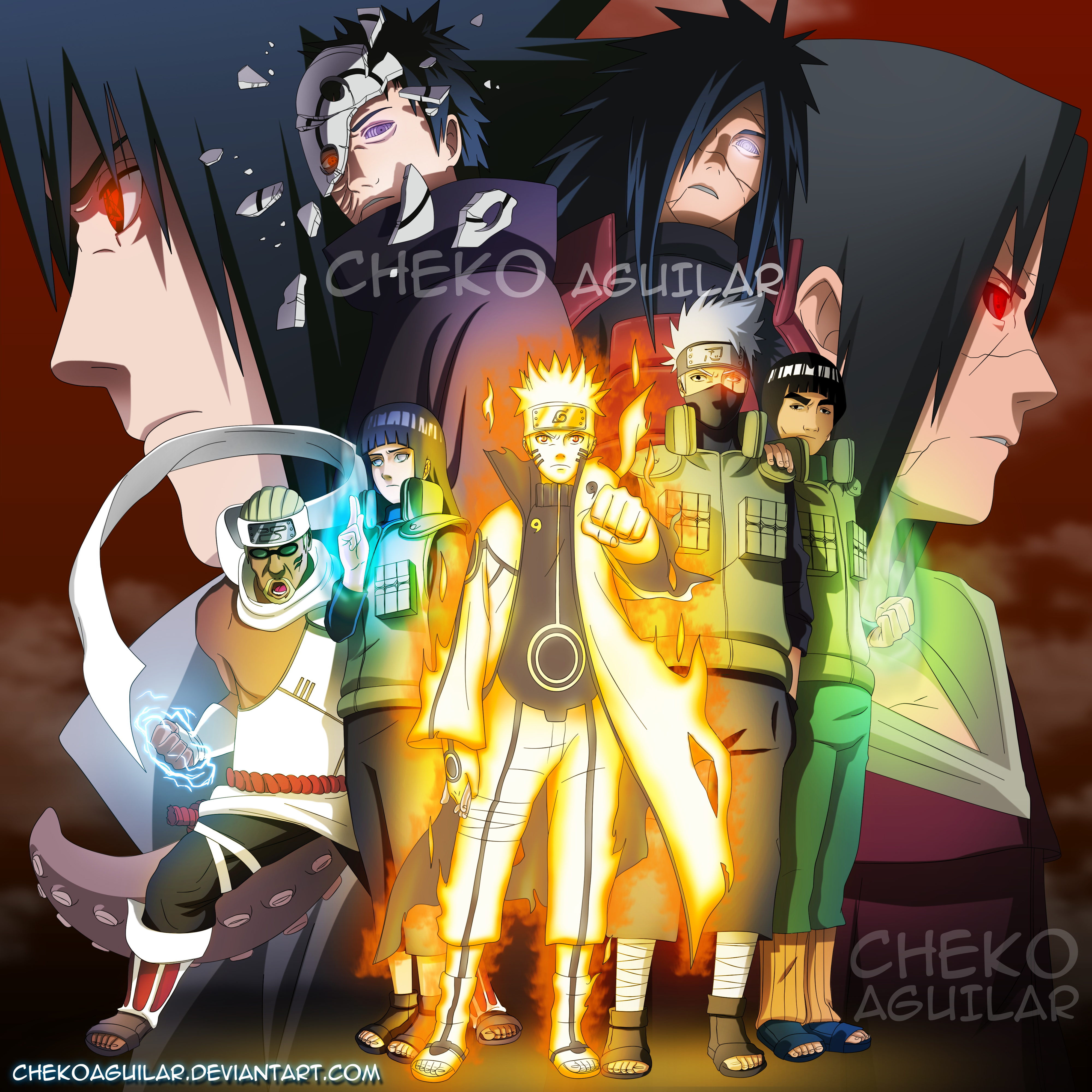 Cover Naruto Shippuden Fanart by: Cheko Aguilar by
