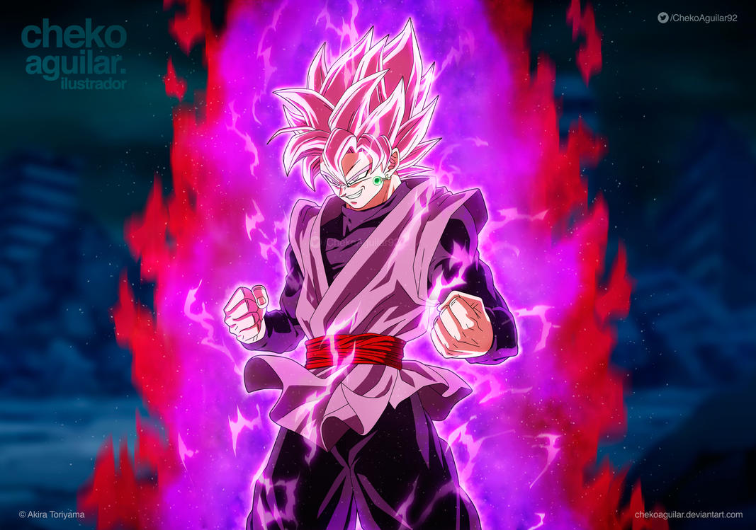 Super Saiyan Rose Goku Black Wallpaper: Black Super Saiyan Rose By ChekoAguilar On DeviantArt