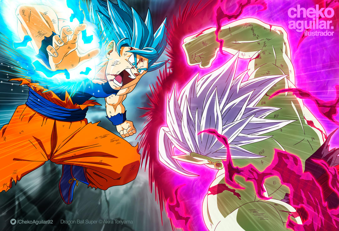Goku SSB vs Zamasu SSR by ChekoAguilar