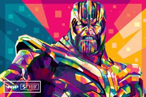 Thanos in WPAP - Avengers Endgame (2019)
