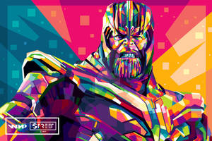 Thanos in WPAP - Avengers Endgame (2019)