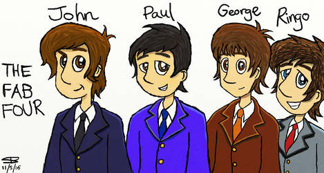 The Fab Four - circa. 1964