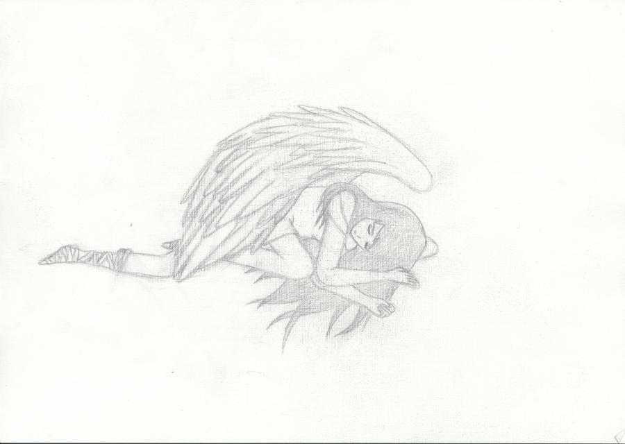 Sad Angel Drawing Sad Anime Angel Drawing