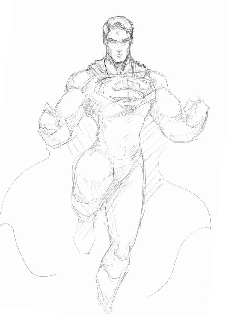 Superman pencil sketch by sketchydeez