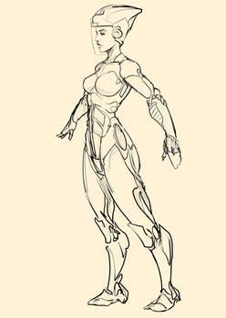 futuristic racer girl