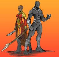 Black Panther okoye  by Sketchydeez