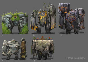 Stone guardians by PavelTomashevskiy