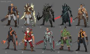 Kratos fan-skins