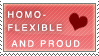 Homoflexible Pride stamp by Kikirini