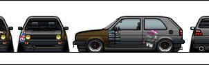 VW Golf mk2 Hellaflush