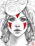 Princess Mononoke Sketch by serafleur
