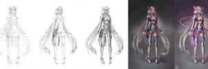 Kagami Sci-Fi AO Process by serafleur