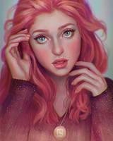Red-haired Girl by serafleur