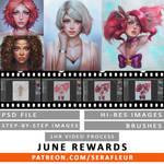 JUNE 2016 REWARDS - PATREON by serafleur