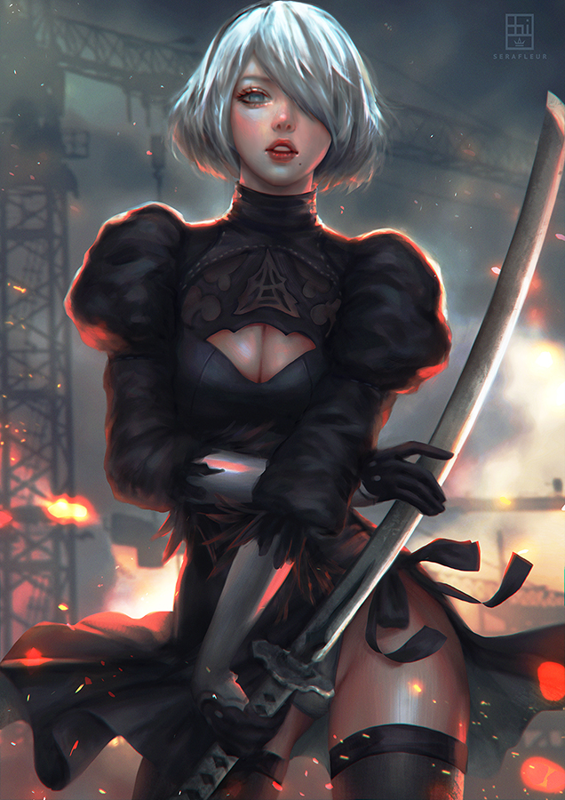 2b Nier Automata By Serafleur On