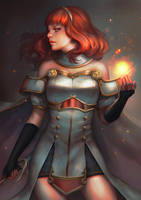 Celica - Fire Emblem Echoes by serafleur