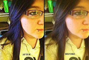 Monica before and after editting by KailaDarling