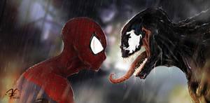 Spiderman y Venom Fan Art