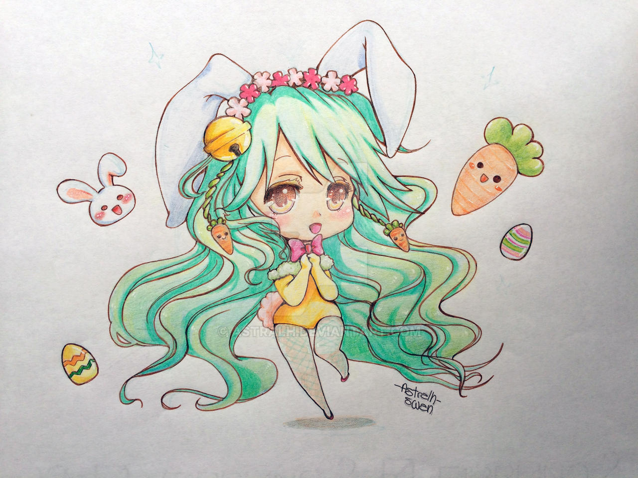 Pasqualina by astralh on deviantart for Disegni kawaii facili