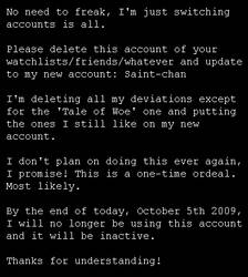 New Account Announcement