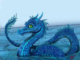Water Dragon by SapphireMinx