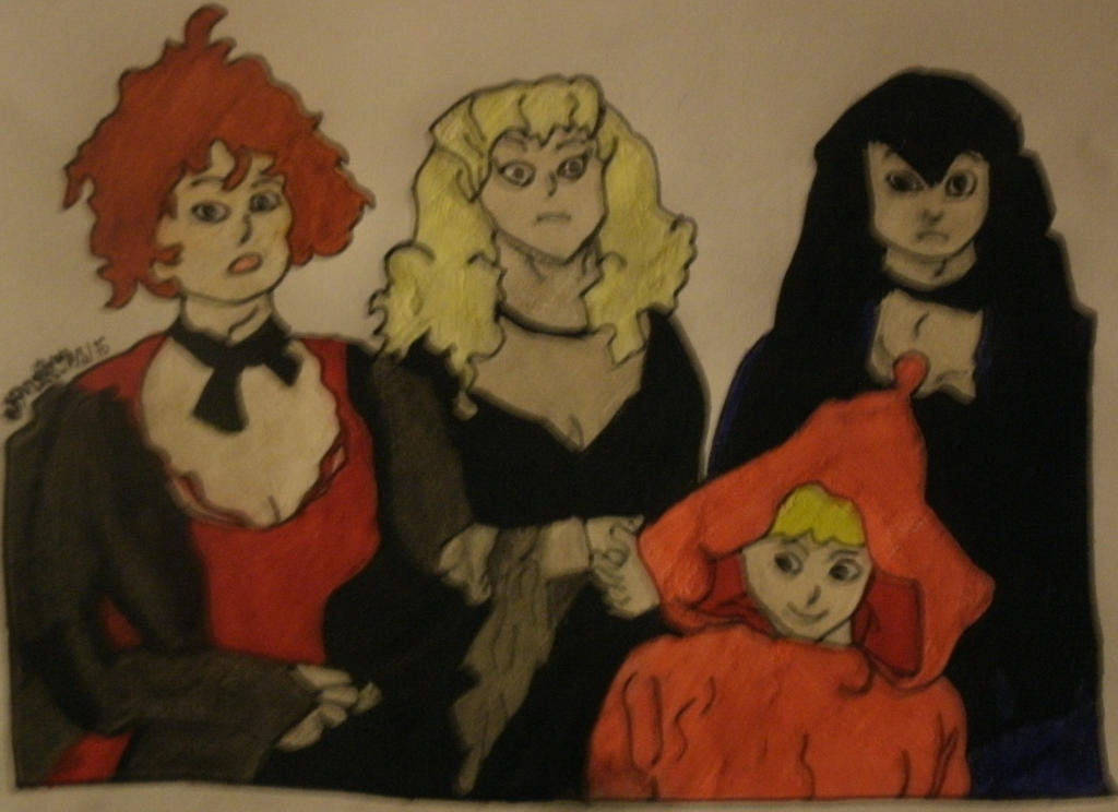 casper and wendy. wendy and her aunts by art-jester casper