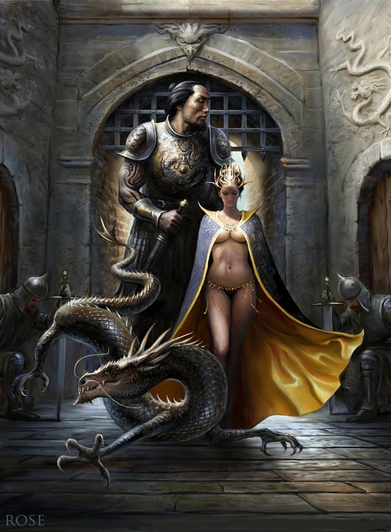 MelanieRose Dragon Priestess by Melanie-roseart