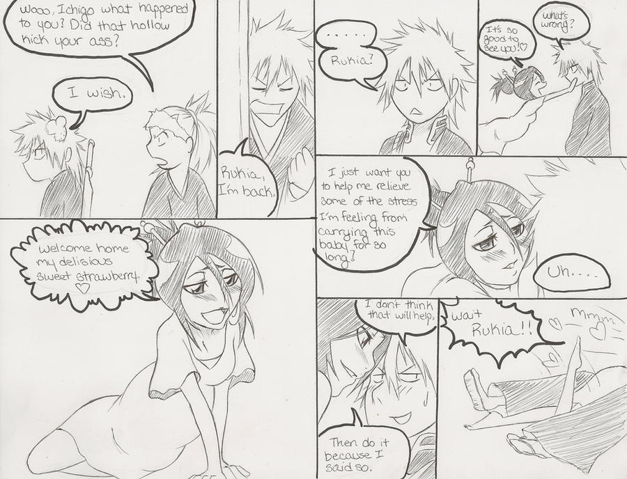 pergnant days of rukia pt 2 by kitsune23star