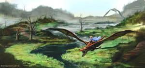 Dragons in Marshland Area